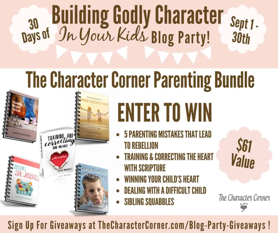Giveaway Parenting Bundle Building Godly Character Blog Party Image
