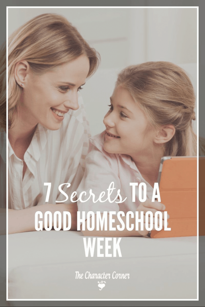 Secrets to a good homeschool week