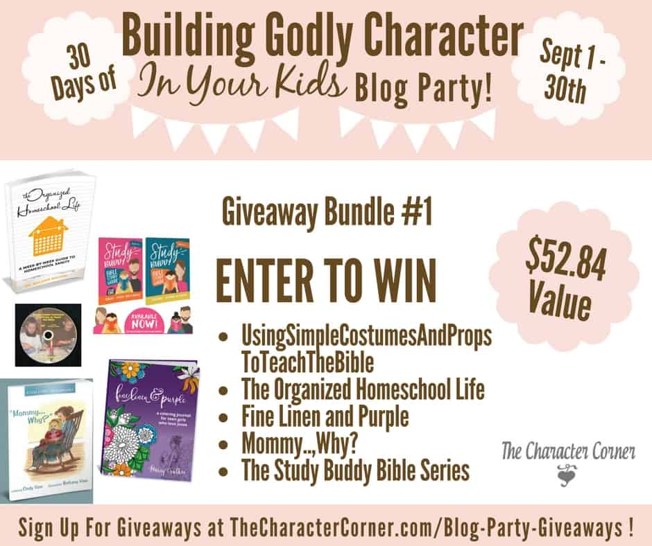 Giveaway Bundle 1 Building Godly Character Blog Party Image