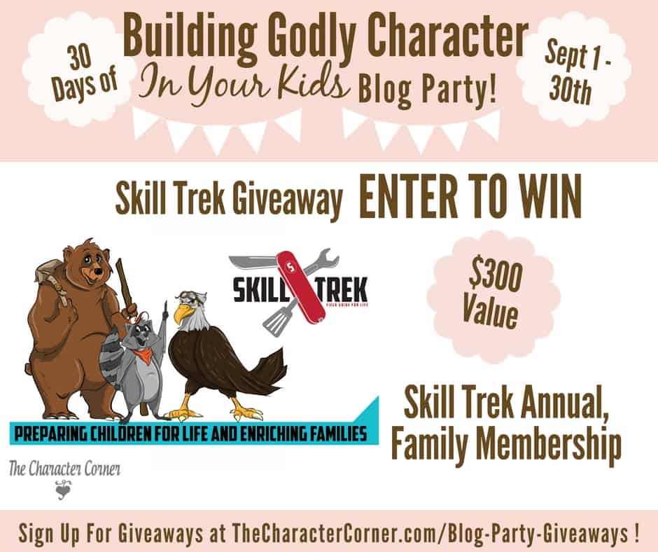 Skill Trek Giveaway Building Godly Character Blog Party Image