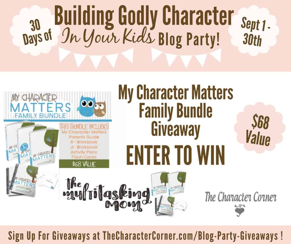 My Character Matters Giveaway Building Godly Character Blog Party