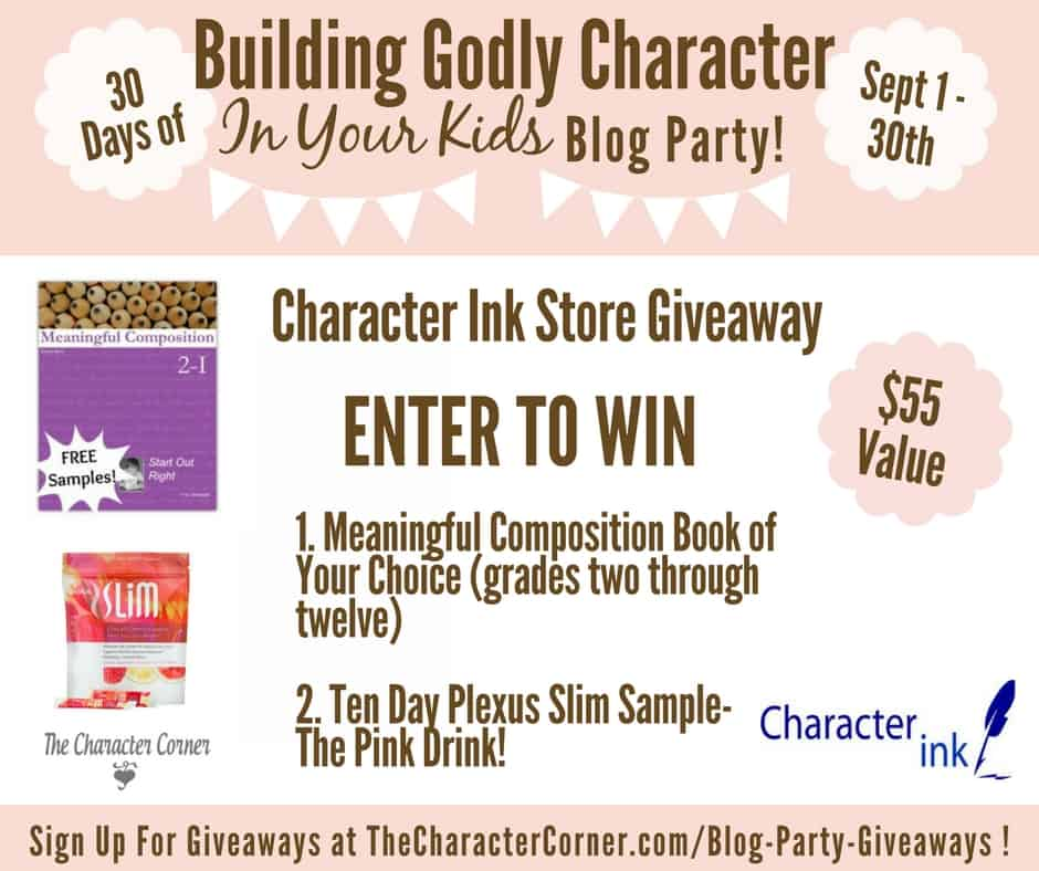 Character Ink Giveaway Building Godly Character Blog Party Image