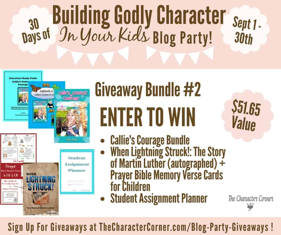 Giveaway Bundle 2 Building Godly Character Blog Party Image