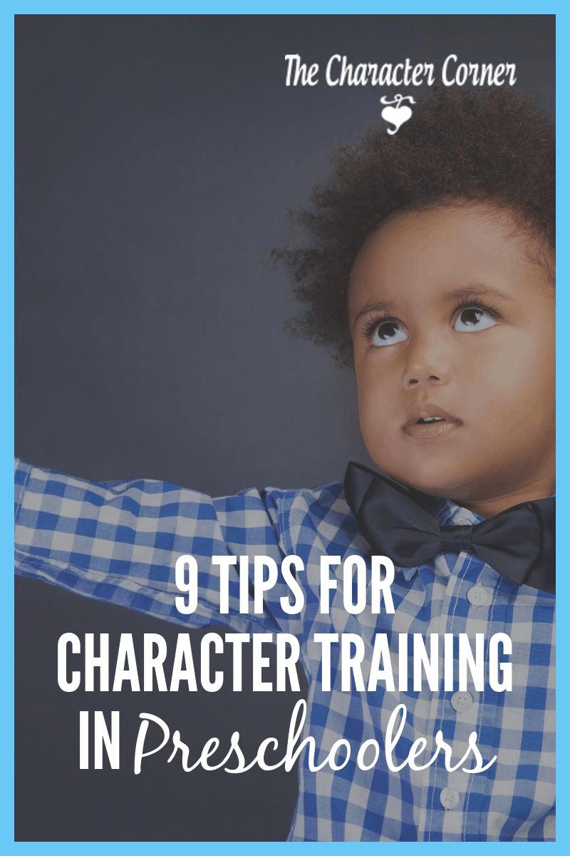 Character Training in Preschoolers