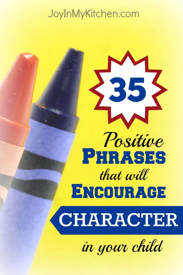 positive phrases to encourage character