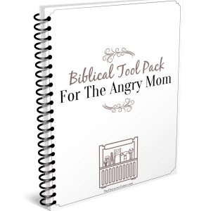 Biblical took pack for the Angry Mom has charts, forms, and tips to help you overcome your anger.
