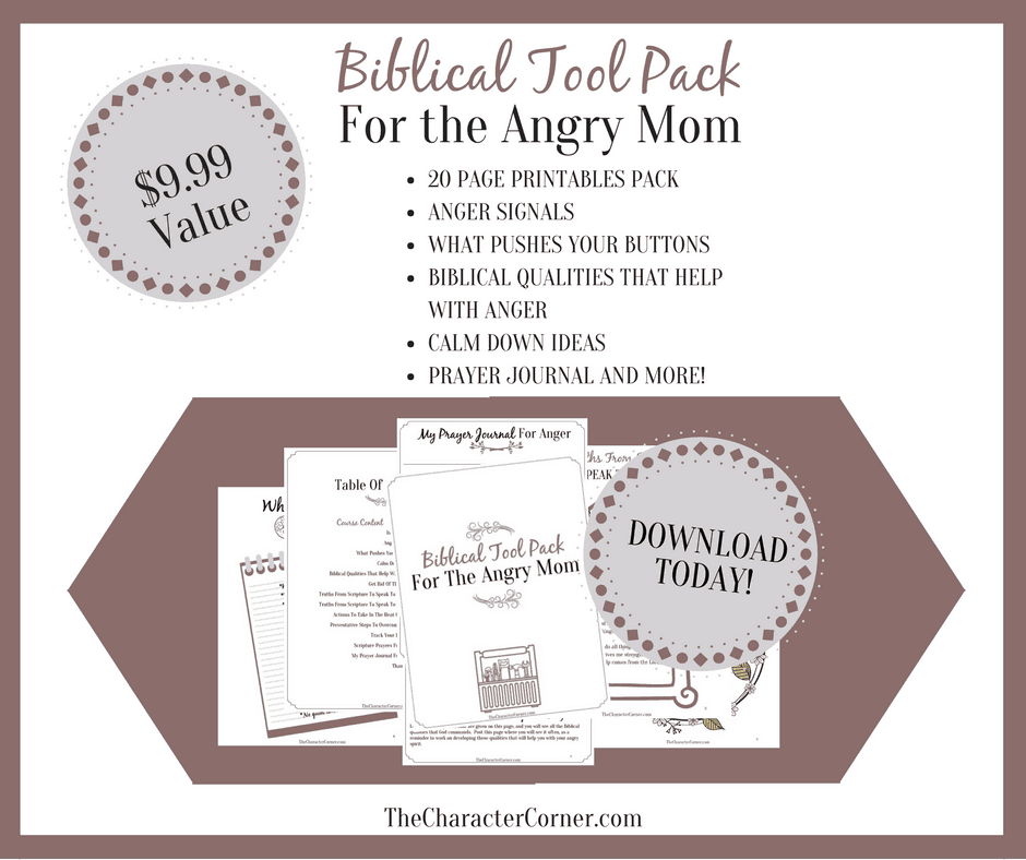 Biblical took pack for the angry mom