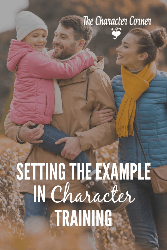 Setting the example in character training