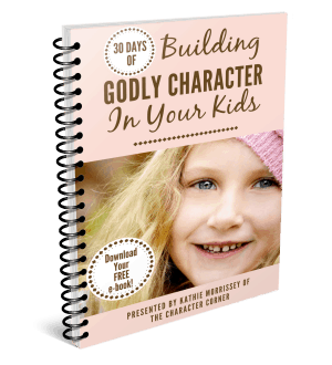 Building Godly character in your children contains 30 days of encouraging posts to help you with all ages and stages of character training in your children.