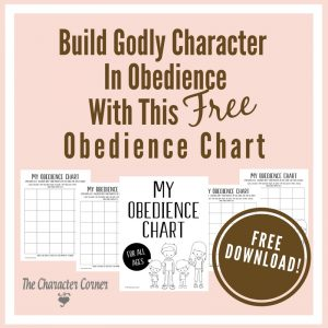 My obedience chart