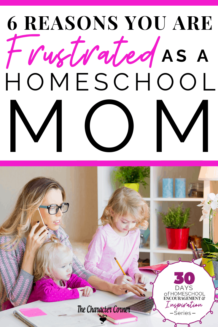 frustrated and stressed homeschool mom