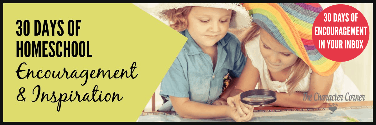 Join me for 30 days of homeschool encouragement and inspiration!