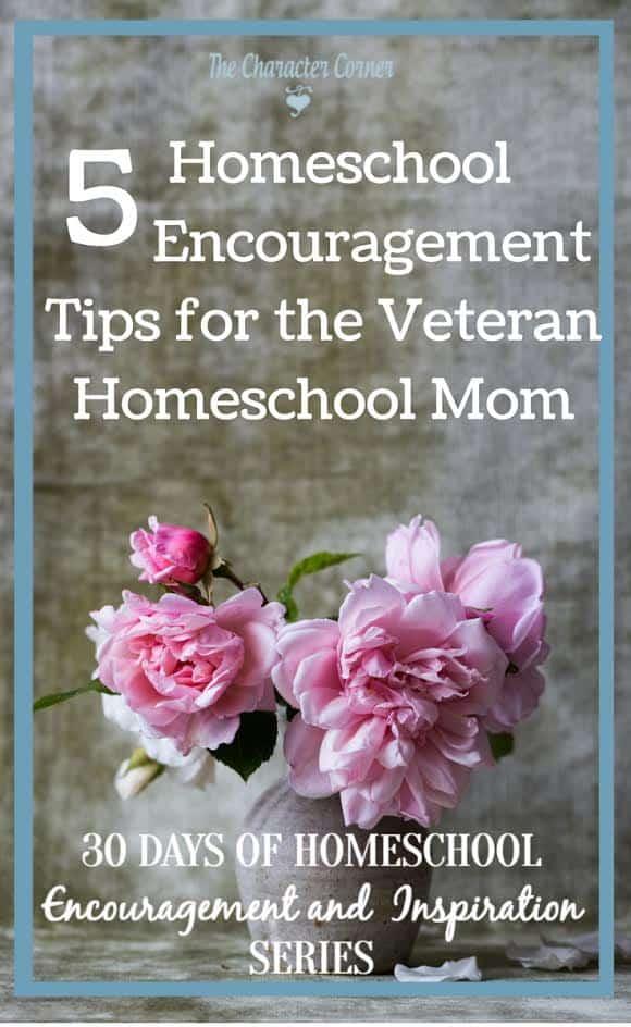 Homeschool encouragement tips for the veteran homeschool mom