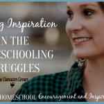 Finding Inspiration In The Homeschooling Struggles