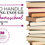 HOW TO HANDLE 'NOT DOING ENOUGH' IN YOUR HOMESCHOOL
