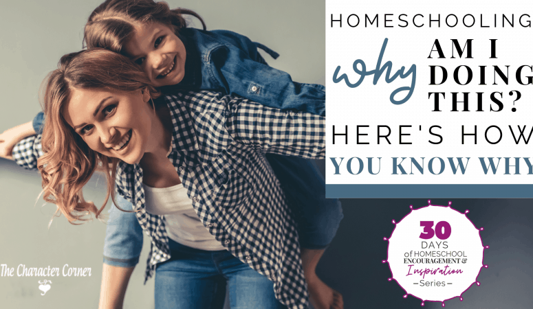 HOMESCHOOLING – 'WHY AM I DOING THIS?' HERE'S HOW TO KNOW WHY