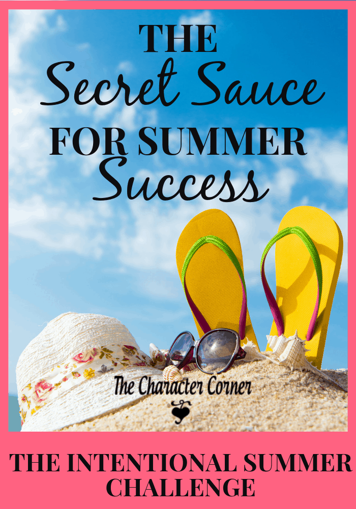 The Secret Sauce for Summer Success Challenge The Character Corner