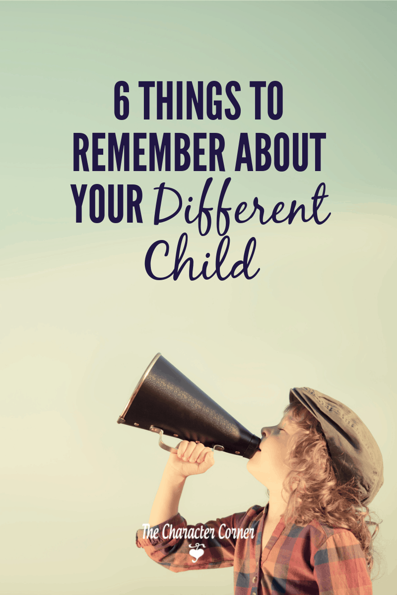 child with megafone 6 Important Things To Remember About Your Different Child