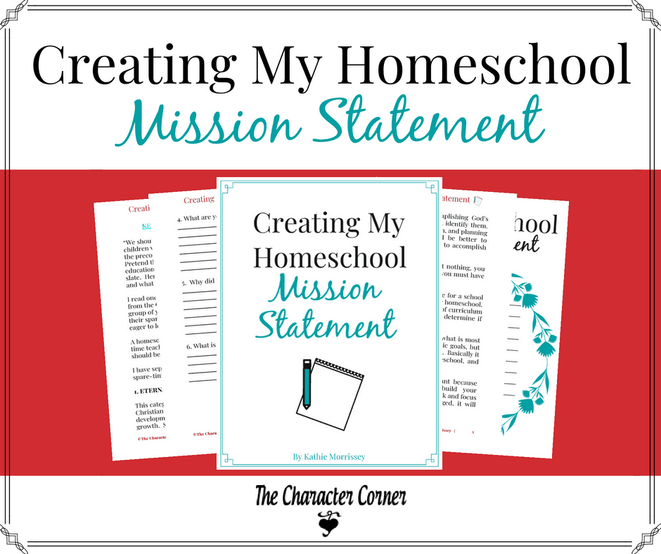 Creating my homeschool mission statemetn