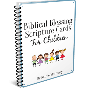 Biblical blessing Scripture cards for children