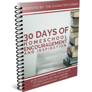30 days of Homeschool Encouragement Cover eBook