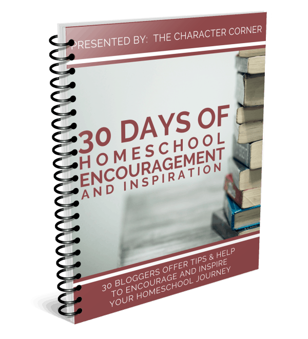 30 days of Homeschool Encouragement Cover eBook