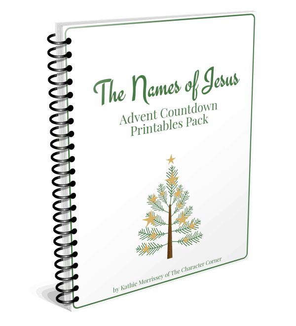 Spiral Cover Names of Jesus Advent Countdown The Character Corner