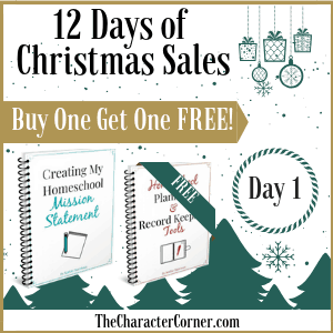 Day 1 Products 12 Days of Christmas Promo Graphics The Character Corner