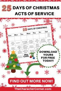 FREE Calendar Christmas Activities Acts of Service The Character Corner