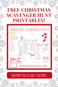 Download Your FREE Christmas Scavenger Hunts on The Character Corner