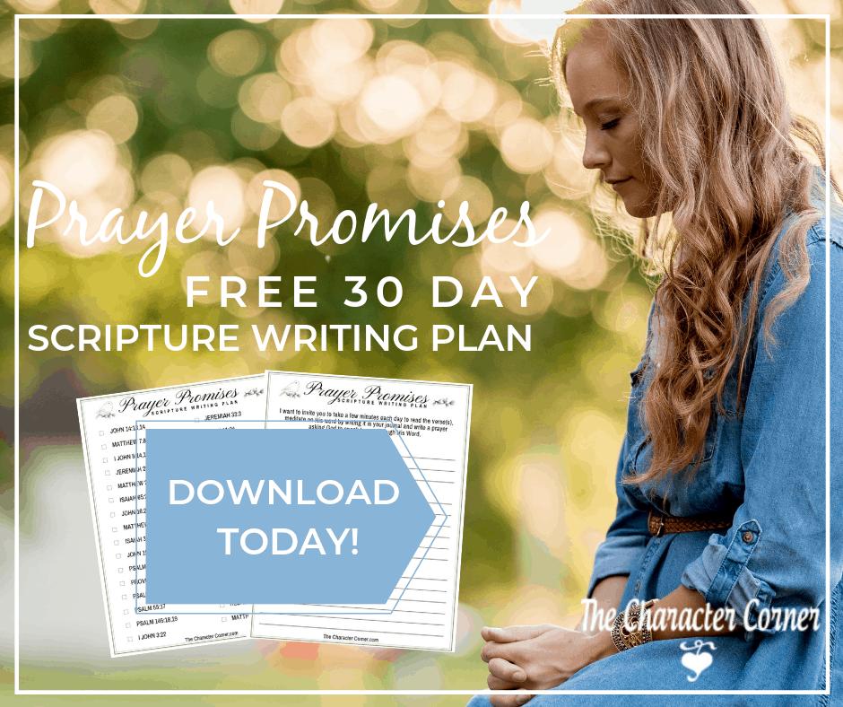 Scripture writing plan Prayer Promises