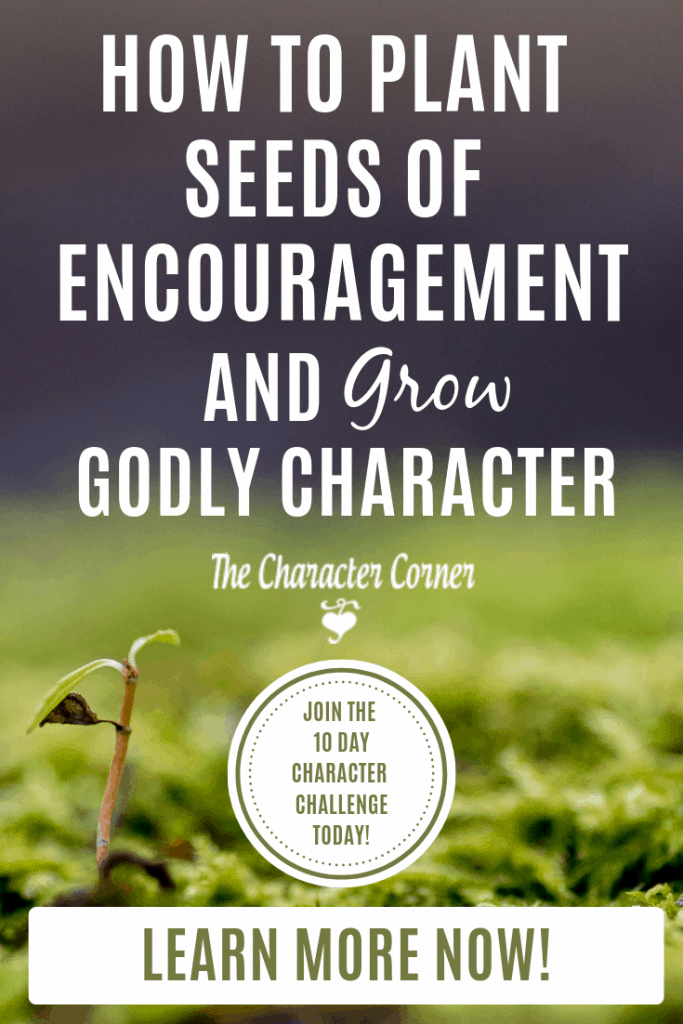 How to Plant Seeds Of Encouragement and Grow Godly Character. Join the 10 Day Character Challenge on The Character Corner!