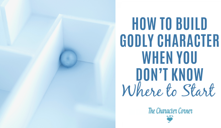 How to Build Godly Character When You Don't Know Where To Start