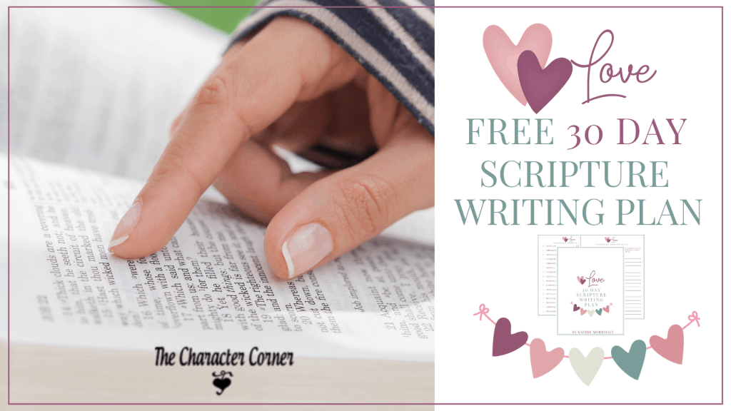 Featured Love Scripture Writing Plan The Character Corner