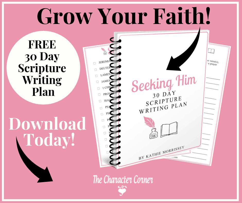 Facebook Seeking Him 30 Day Scripture Writing Plan