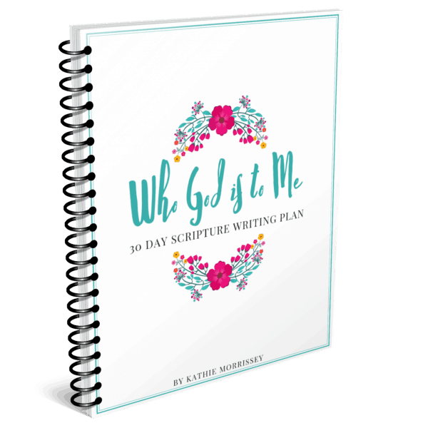 Spiral Cover Who God is to Me Scripture Writing Plan The Character Corner