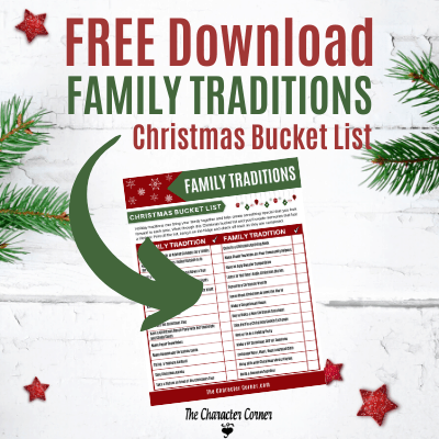 Family Traditions Christmas Bucket List Printable