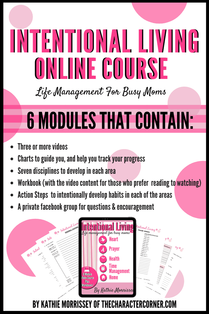 Intentional Living for Busy Moms Online Course