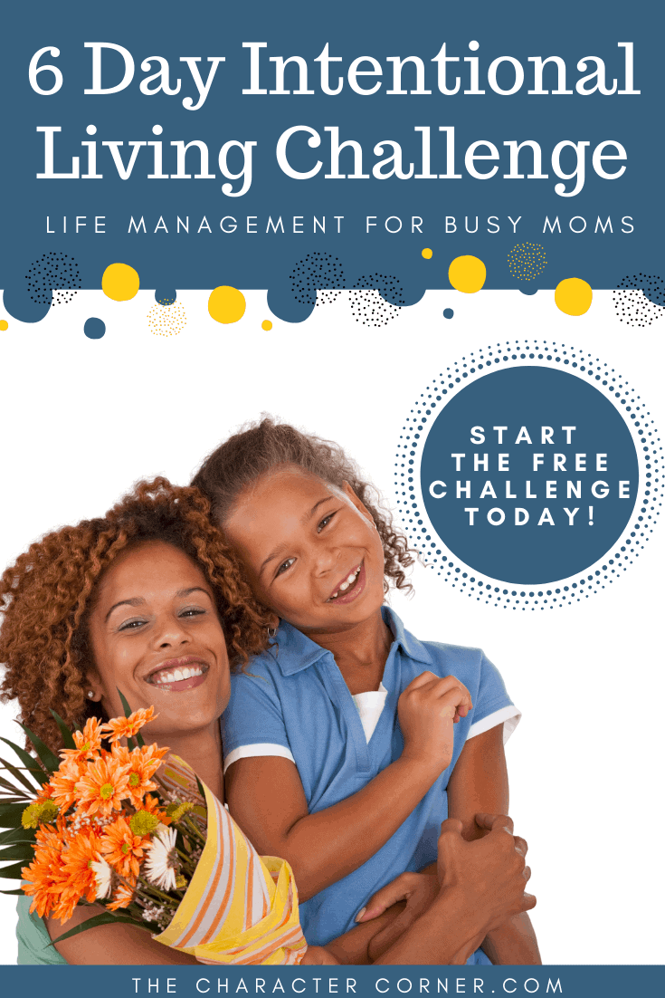 Mom and Daughter Happy 6 Day Intentional Living Challenge For Busy Moms
