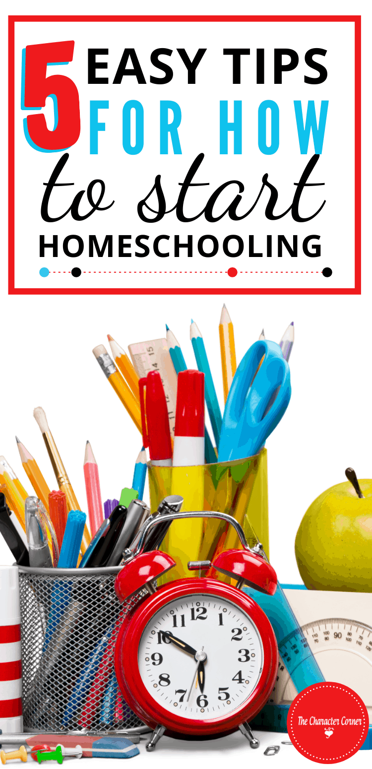 5 Easy Tips For How To Start Homeschooling Pens Markers Apple Clock