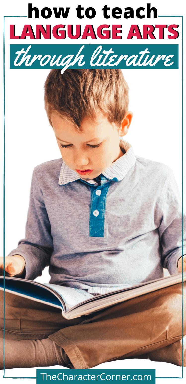 boy reading How to teach language arts through literature