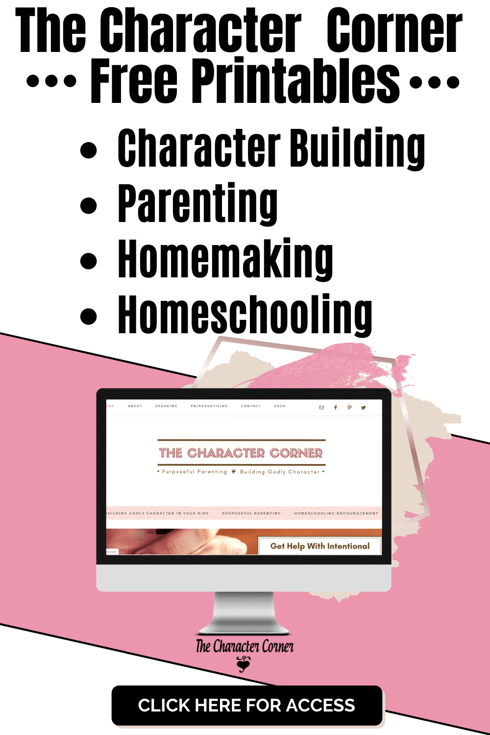 The Character Corner Free Printables Computer