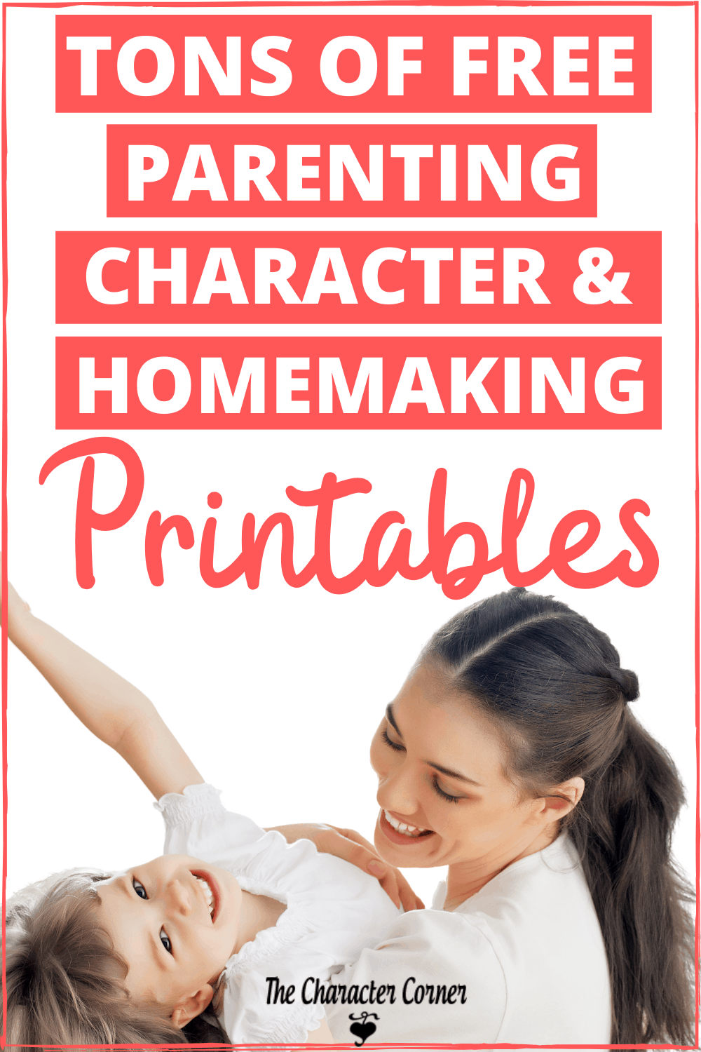 Happy Mom and Child With The Character Corner Free Printables