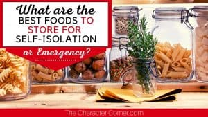 What are the best foods to store in an emergency