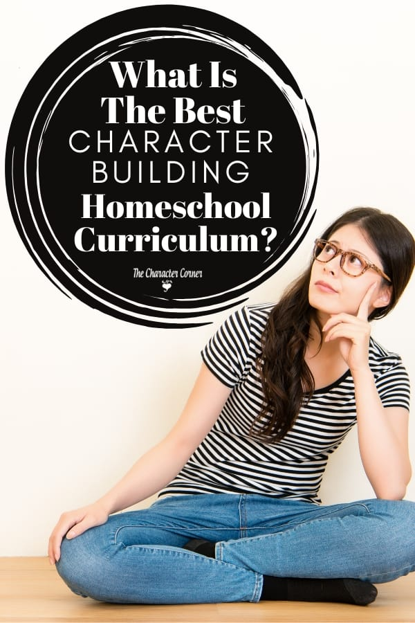 woman sitting and thinking of character building homeschool curriculum
