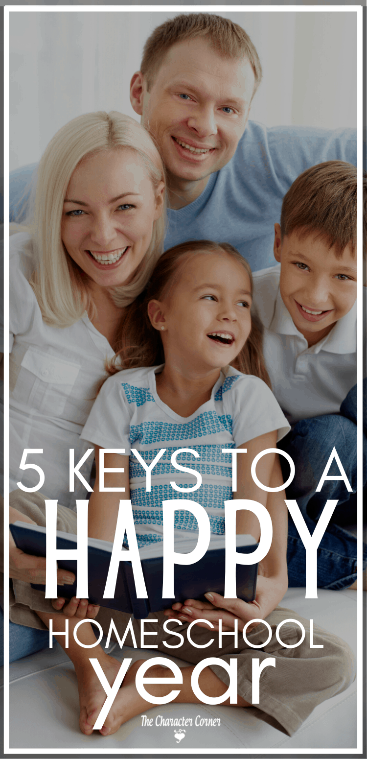 5 Essential Keys for a Happy Homeschool Year excited family