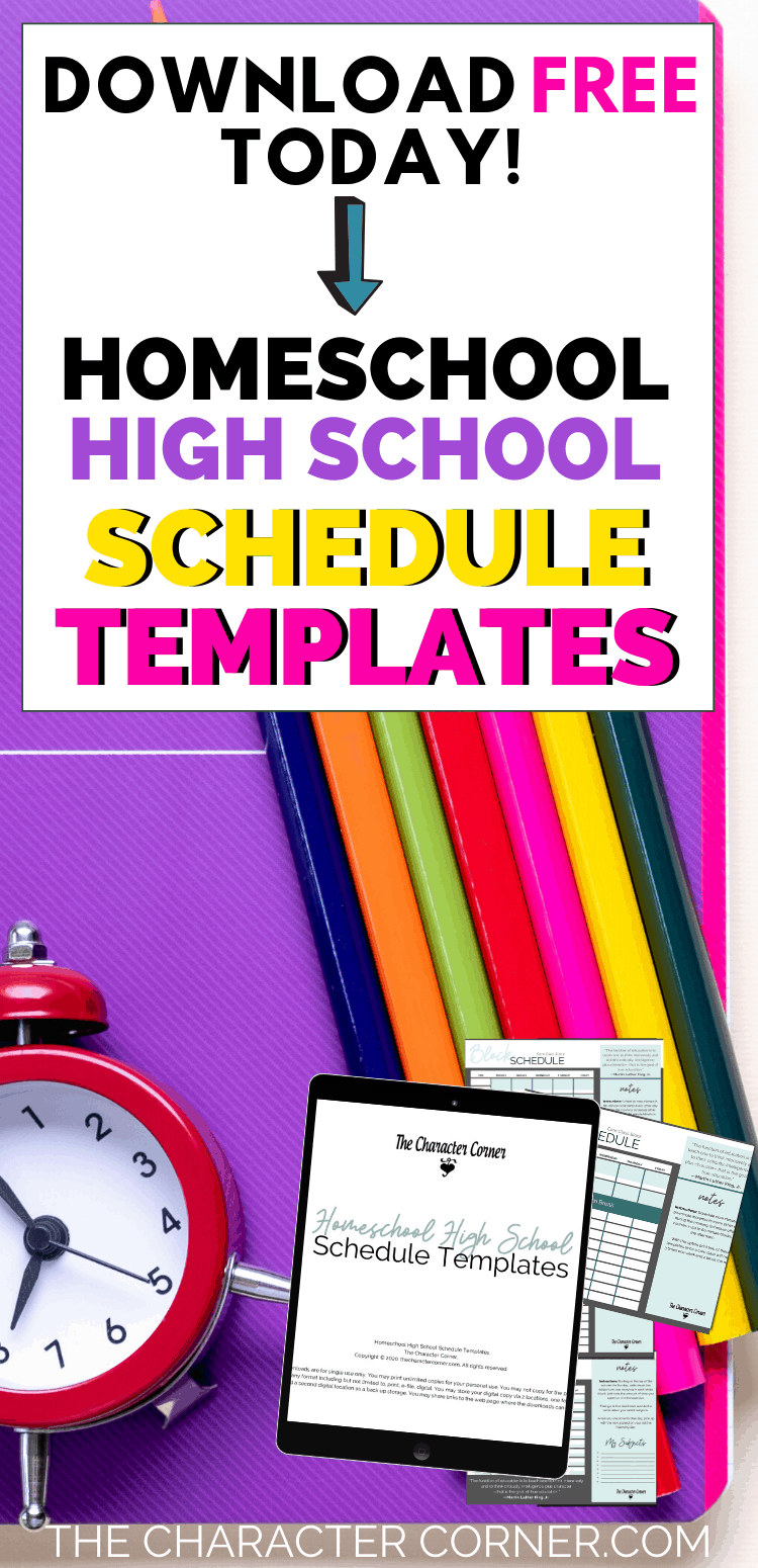 What is the Best Homeschool High School Schedule plus Free Schedule Templates