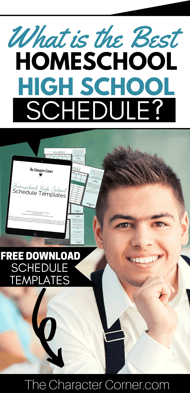 High School Boy What is the Best Homeschool High School Schedule plus Free Schedule Templates