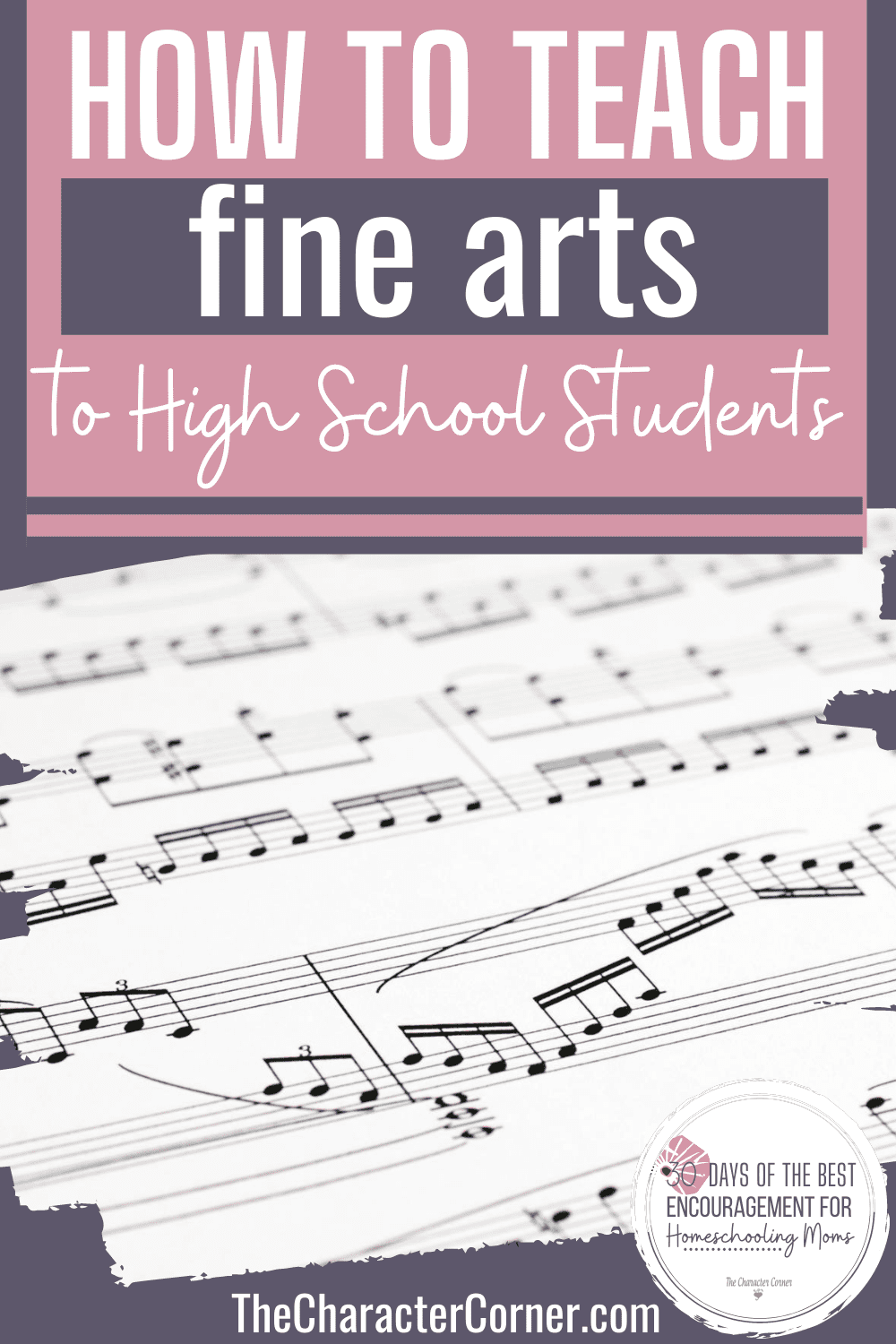 homeschooling fine arts music sheet