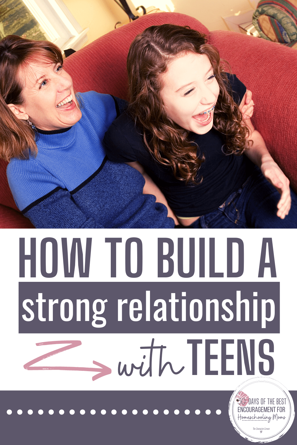 mom and teen with strong relationship